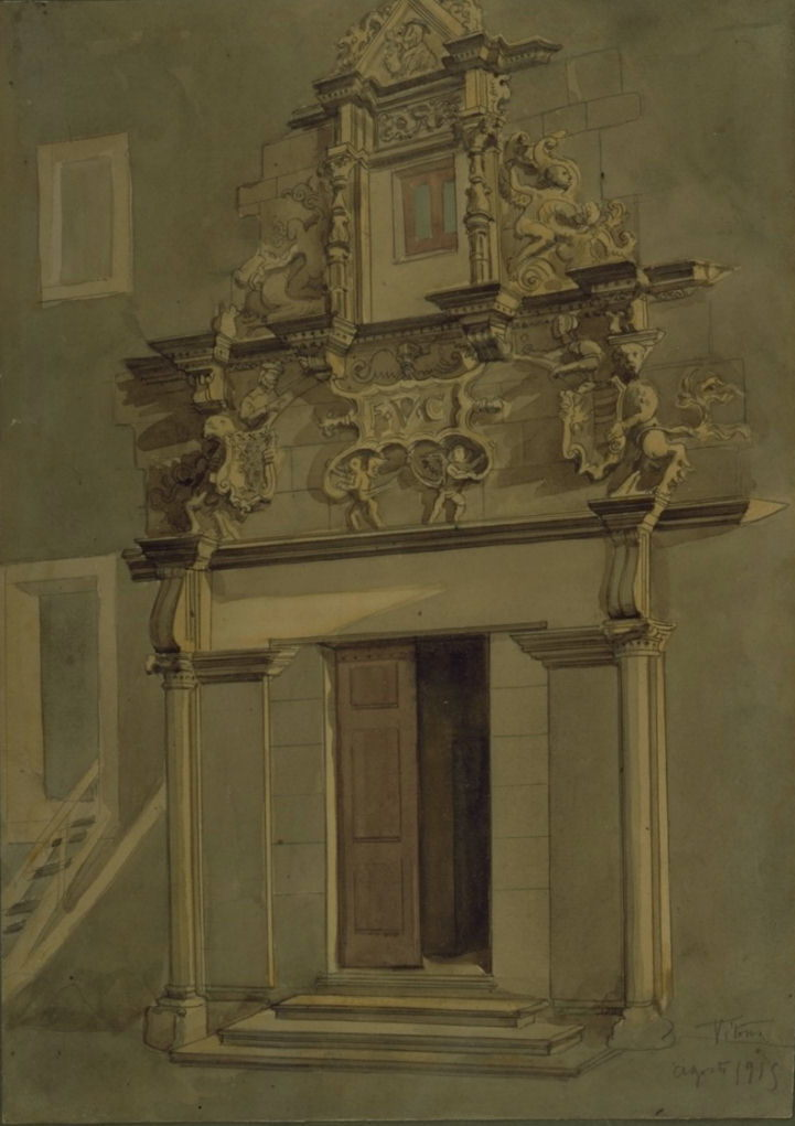 Portada del palacio Escoriaza Esquivel (Vitoria)