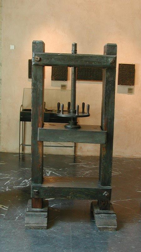 Prensa de husillo para prensar papel