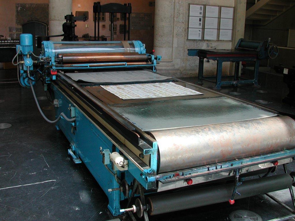 Máquina de pruebas impresión offset