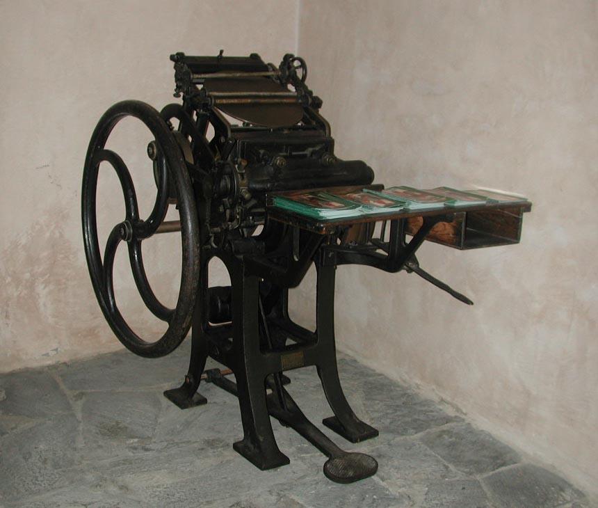 Prensa tipográfica tipo Minerva