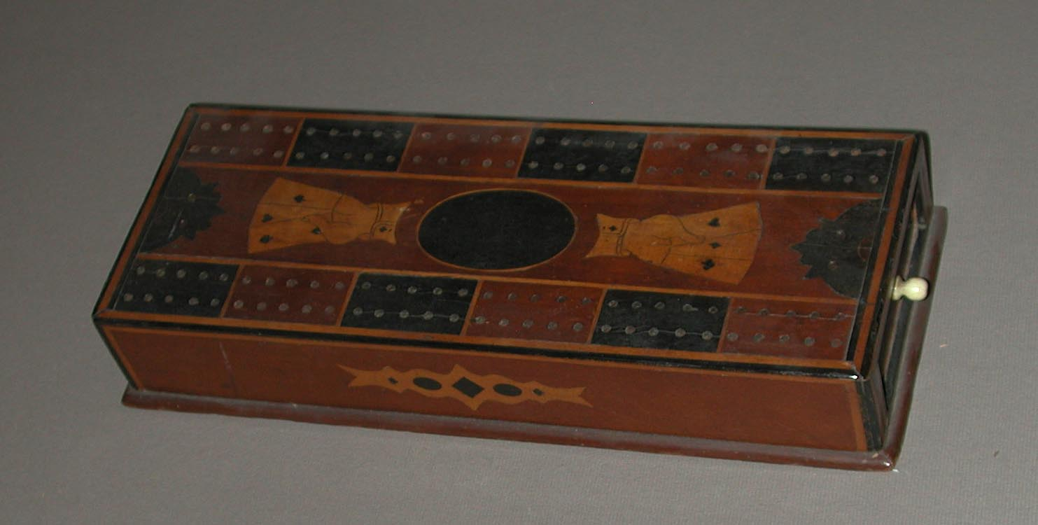 Antique cribbage set