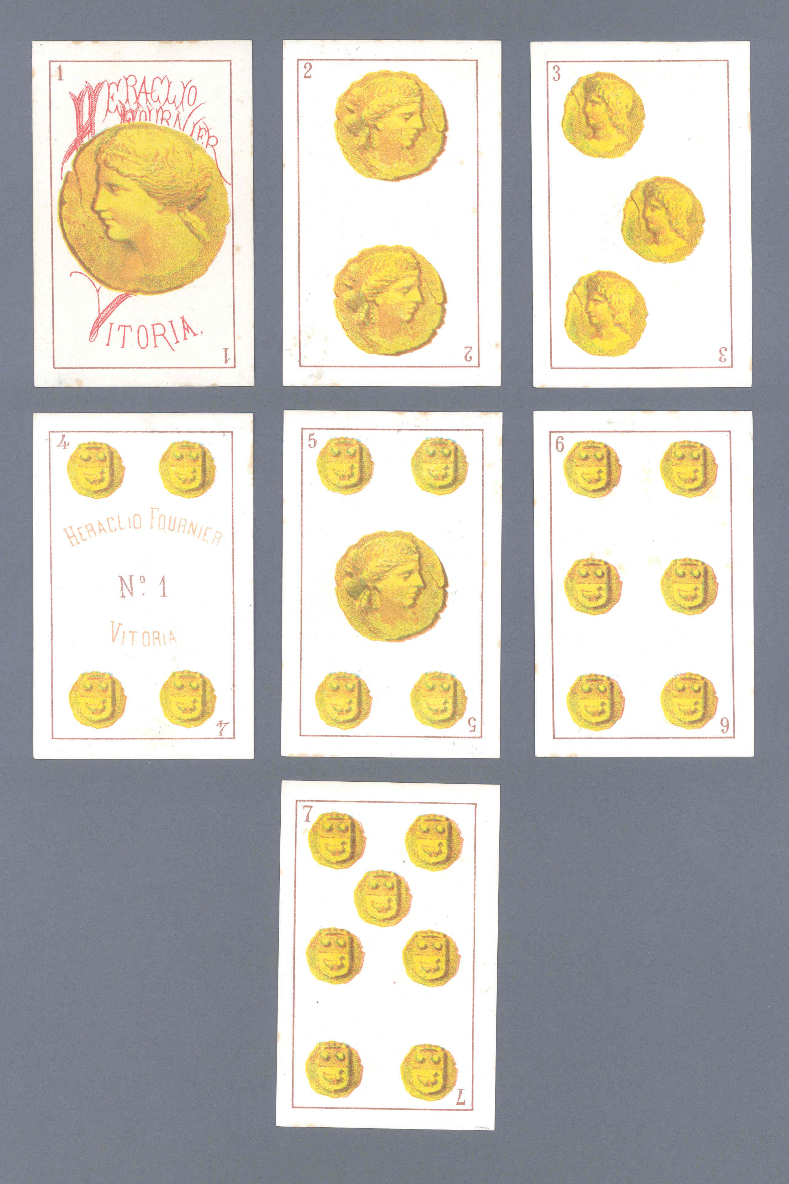 Baraja Nº 1 impresa en litografía por Fournier en Vitoria