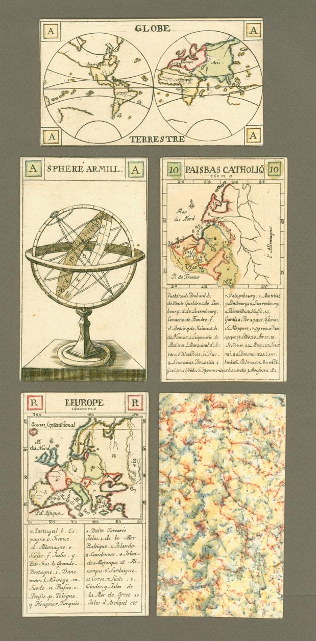 Jeu des Cartes Géographiques; Geographisches Spiel fur die Jugend