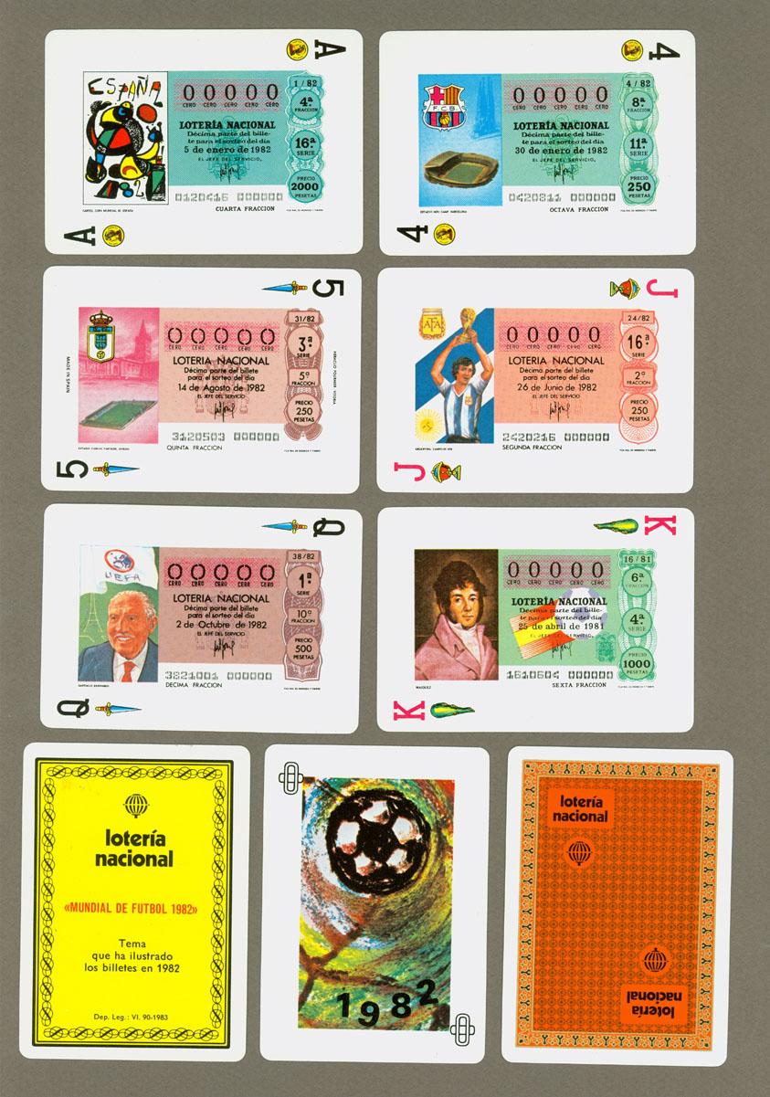 Lotería Nacional. Serie: Mundial de Futbol 1982