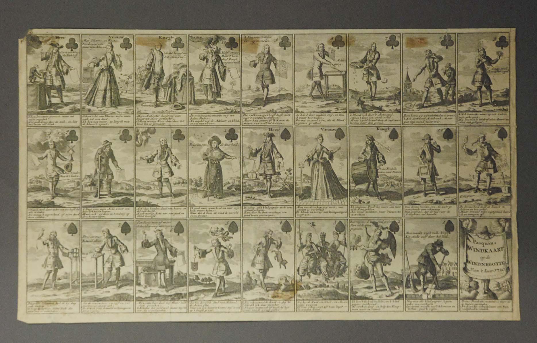 Pasquins windkaart op windnegotie van't Laar, 1720