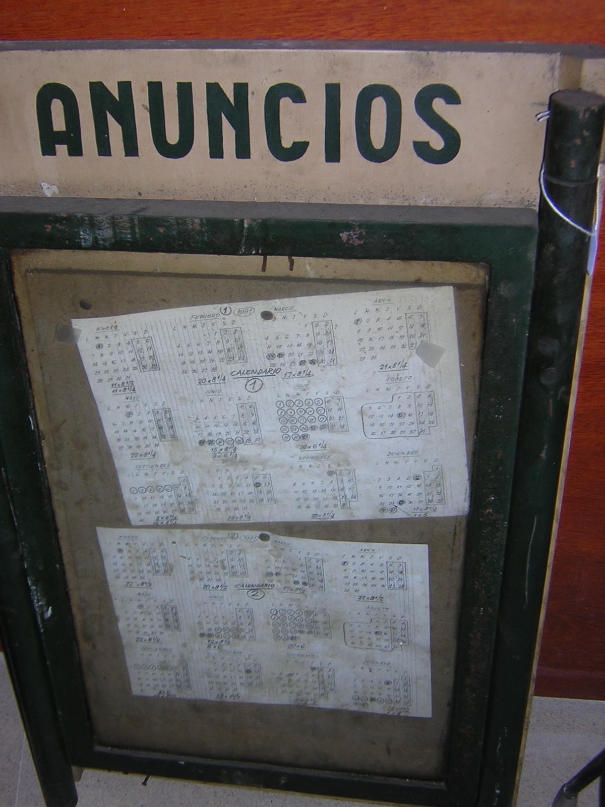 CARTEL DE ANUNCIOS
