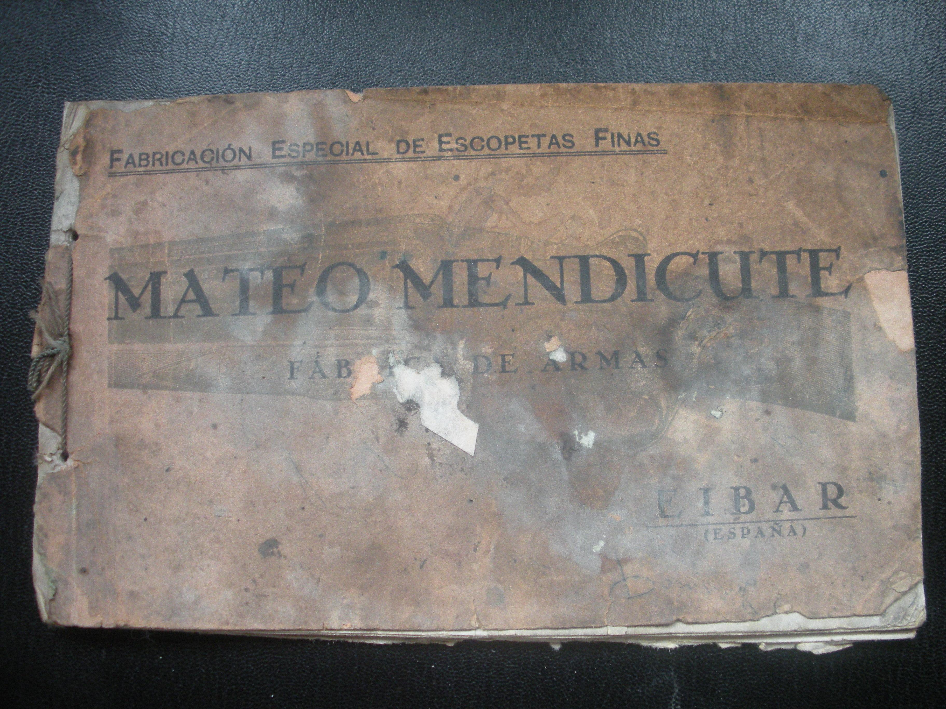 CATÁLOGO DE MATEO MENDICUTE