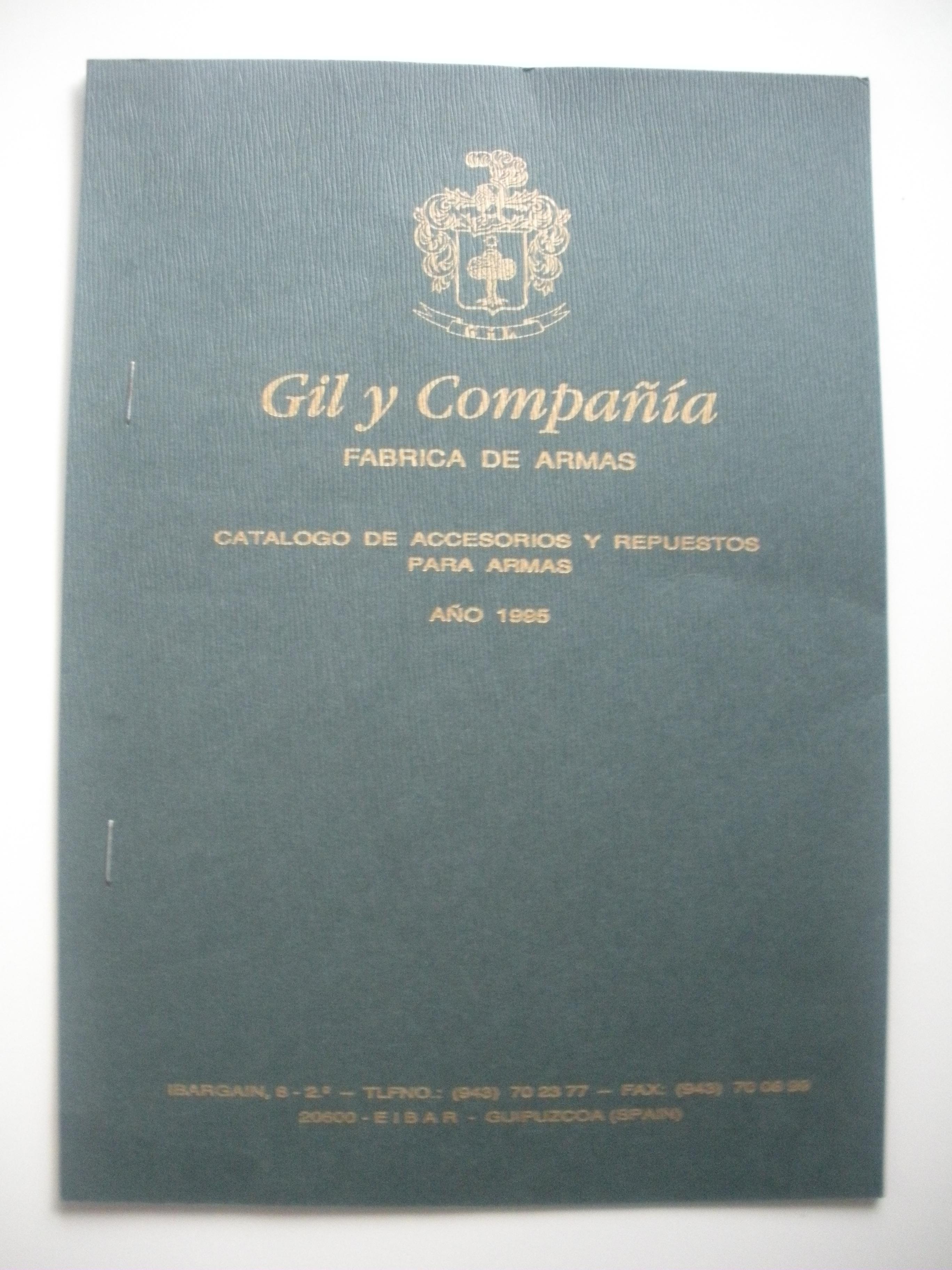 PORTADA DEL CATÁLOGO DE GIL Y COMPAÑÍA
