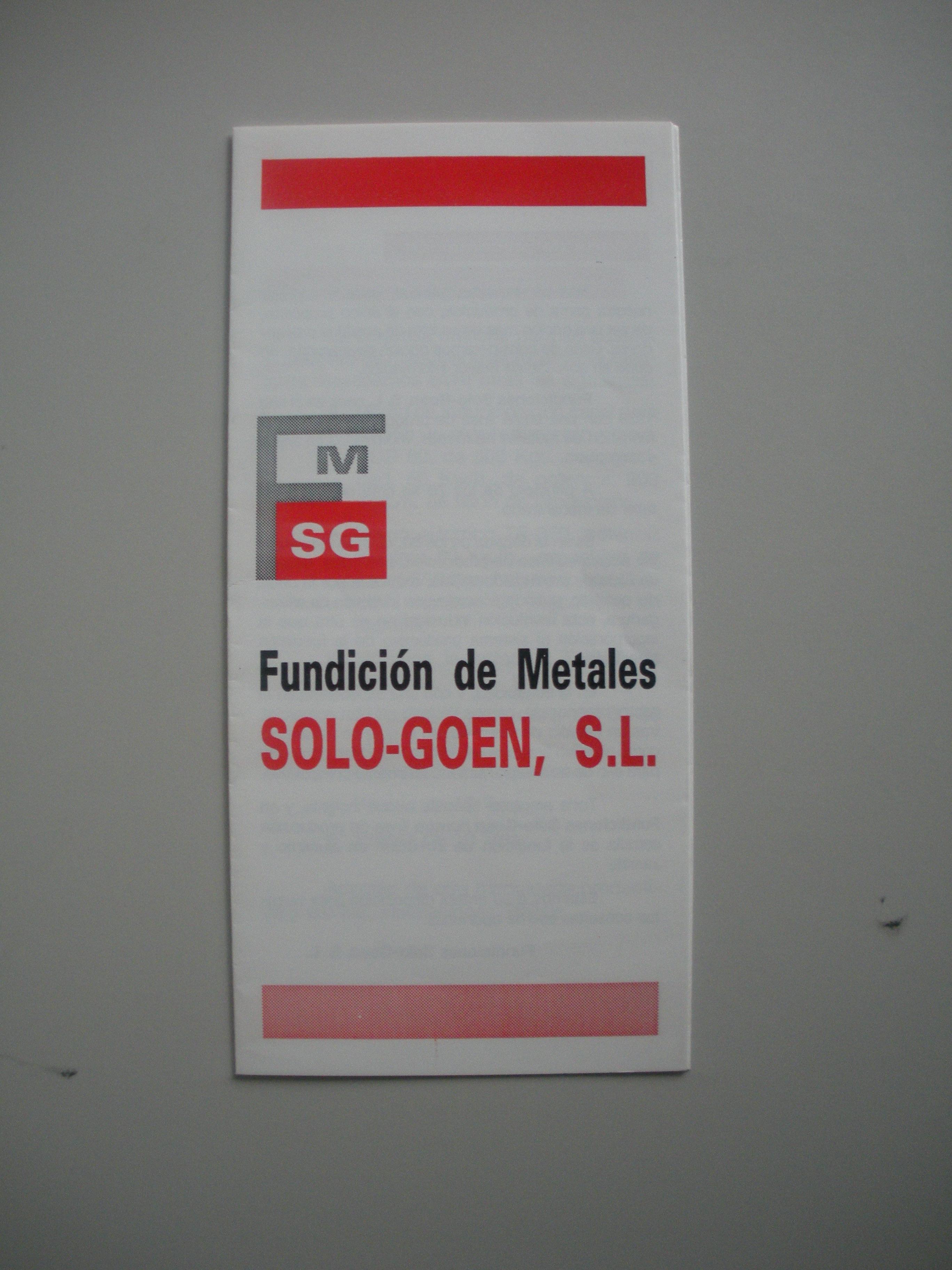 FOLLETO DE SOLO-GOEN, S.L.