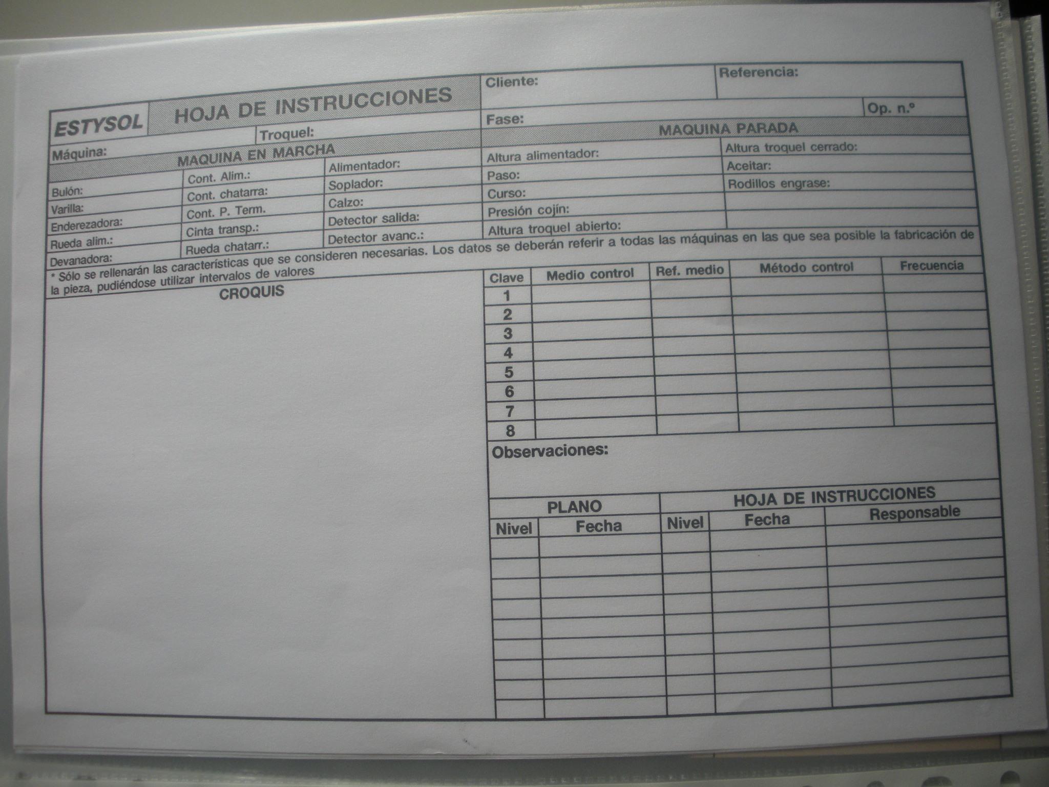 HOJA DE INSTRUCCIONES DE ESTYSOL