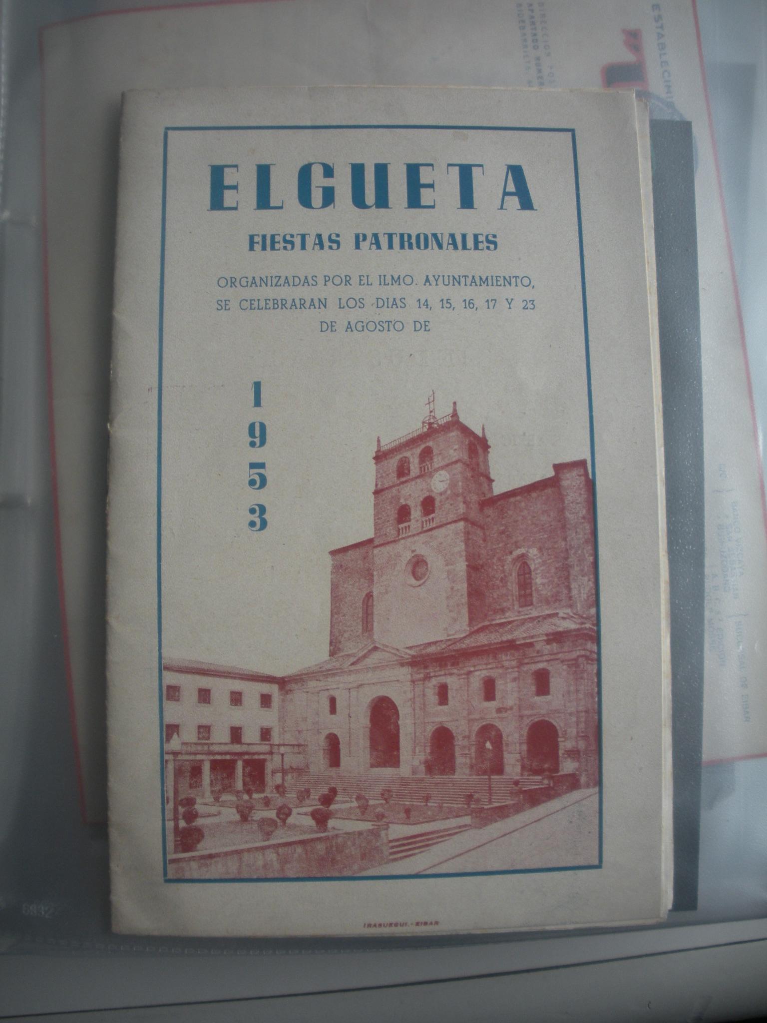 PROGRAMA DE FIESTAS PATRONALES DE ELGETA