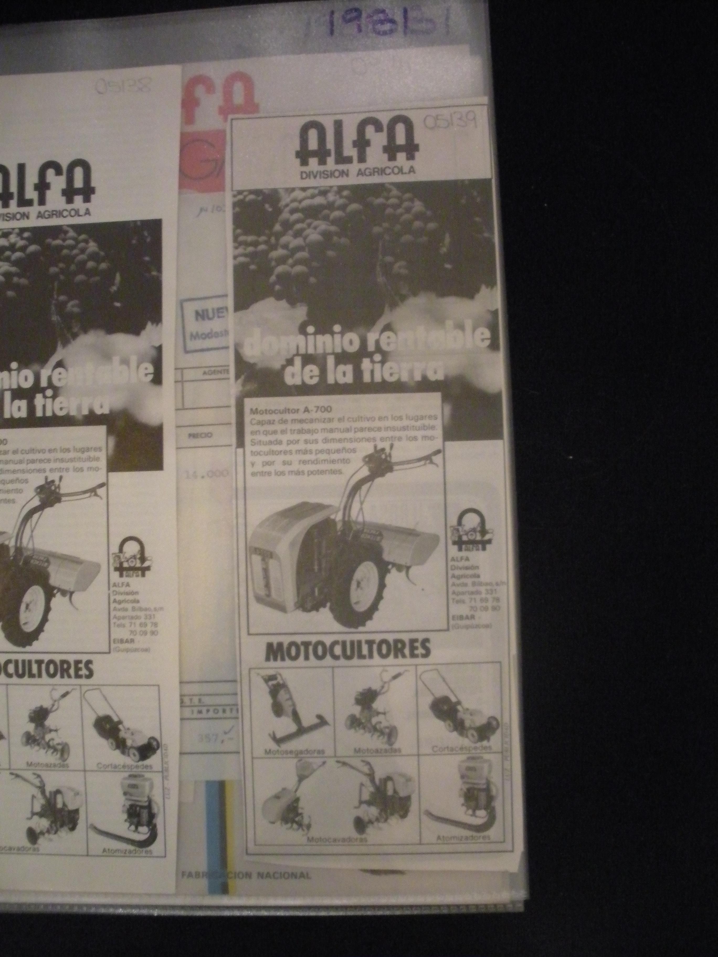 ANUNCIO DE ALFA DIVISION AGRICOLA