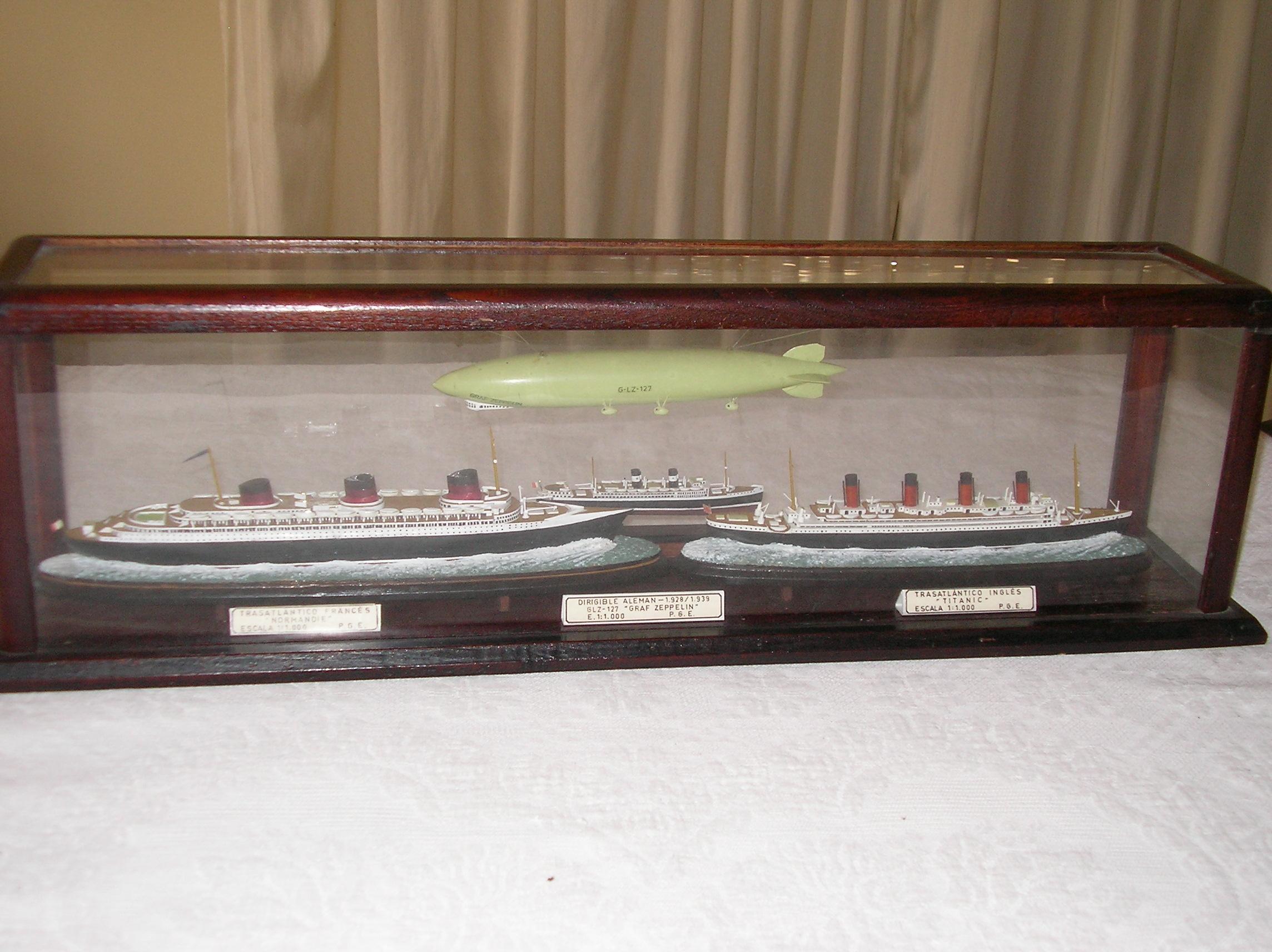 Normandie. Titanic. Graf Zeppelin. Duilio