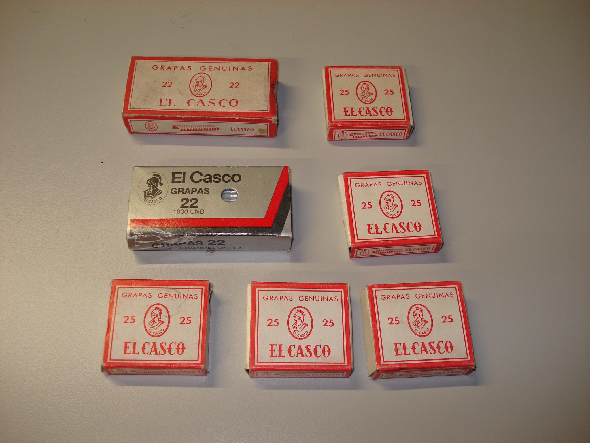 Cajas de grapas EL CASCO