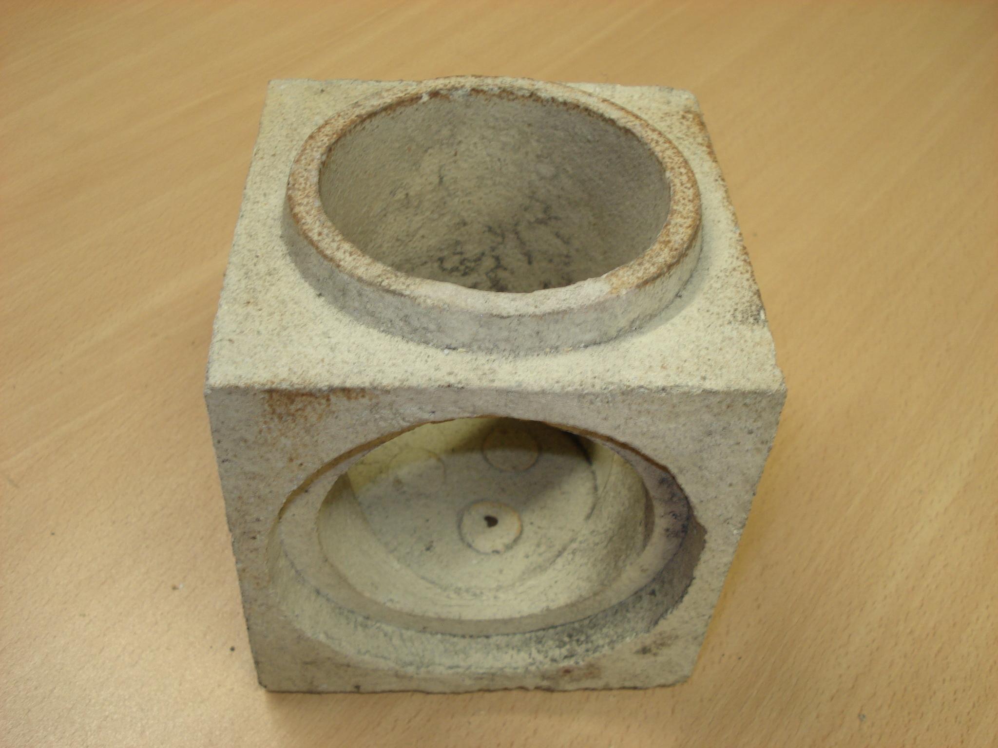 Refractario de arcilla en forma de codo para fundición
