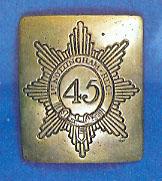 Chapa inglesa de regimiento