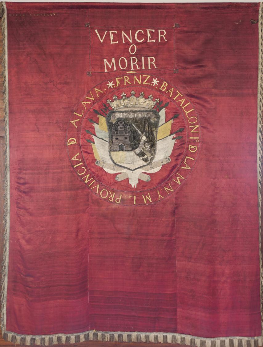 Bandera del 1er Batallón Alavés creado por Sebastián Fernández de Leceta, alias Dos Pelos