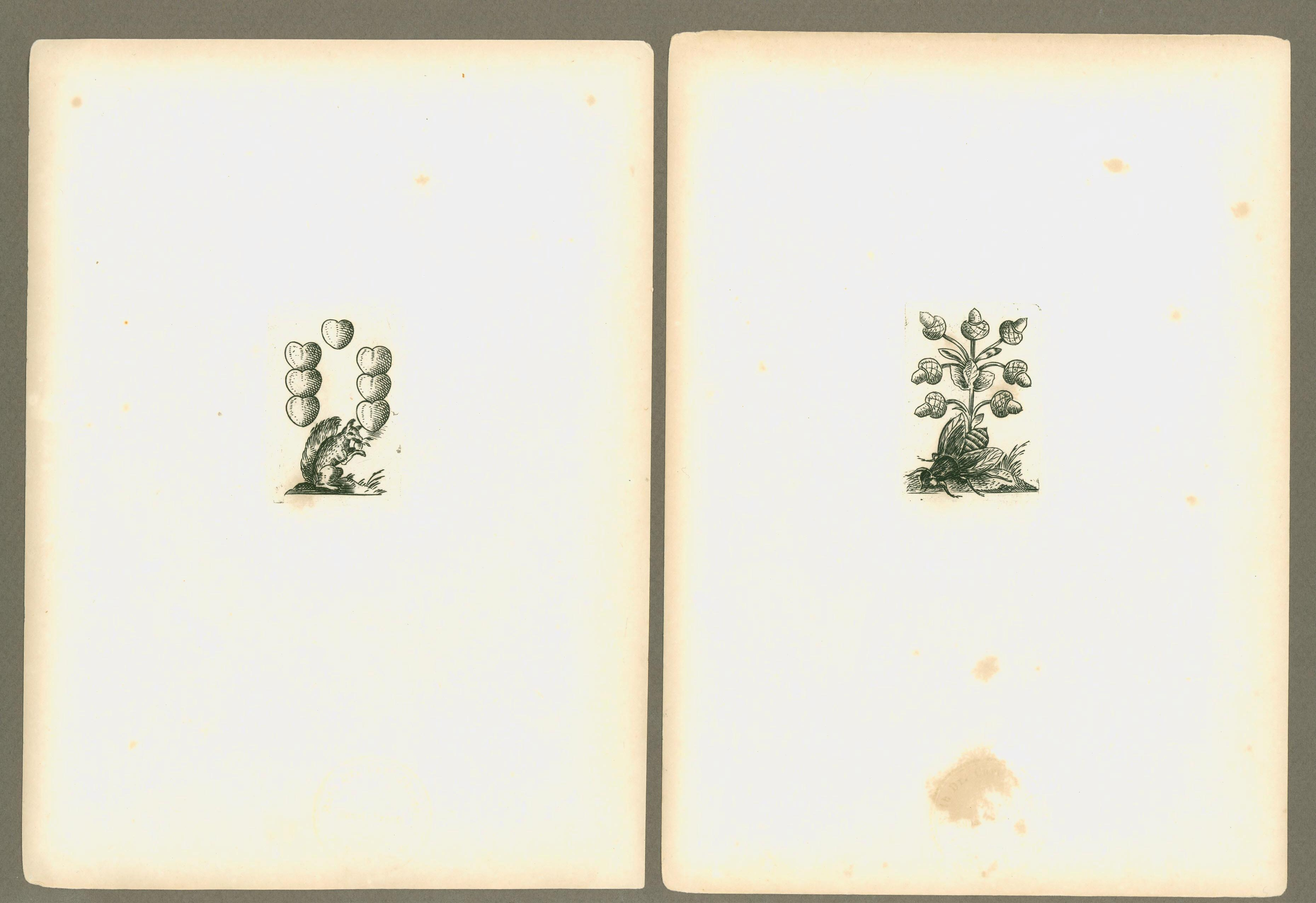 Abdrücke eines vollständigen Kartenspieles auf Silberplatten gestocken vom Georg Heinrich Bleich
