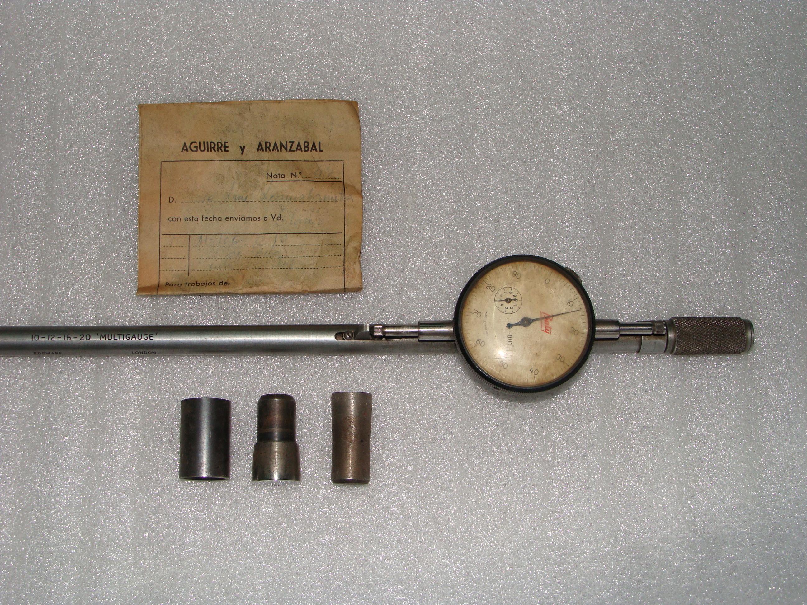 Calibrador de cañón