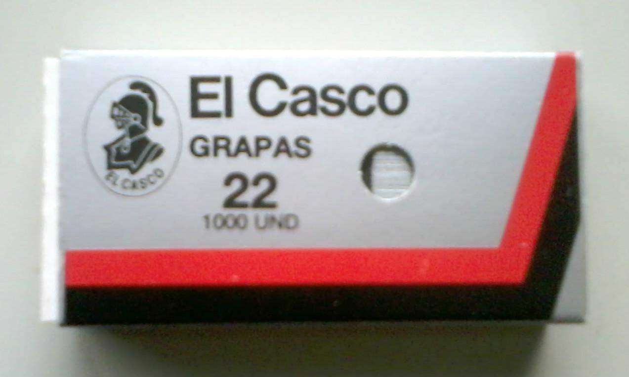 Grapas EL CASCO Nº 22 (1000 unidades)