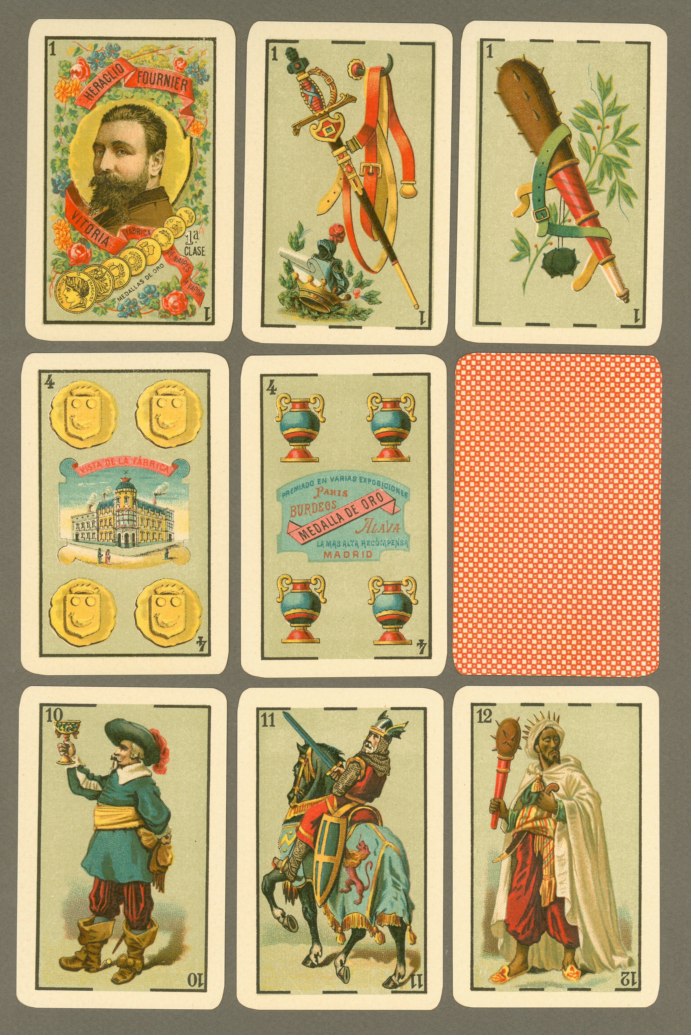 Baraja de 12 colores, 1902
