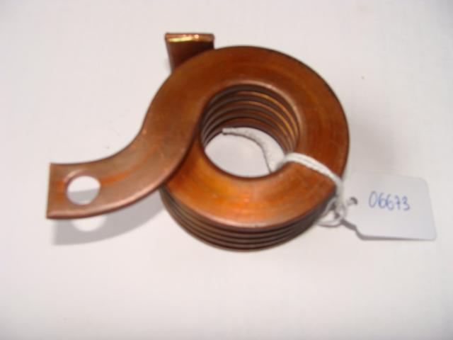 Muelle de fleje de cobre de torsión en torno