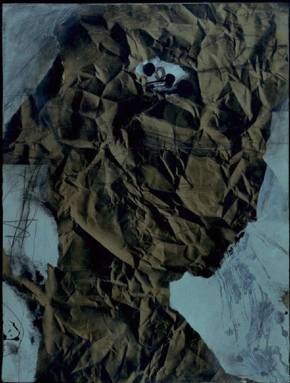 Home de paper arrugat [Hombre de papel arrugado]