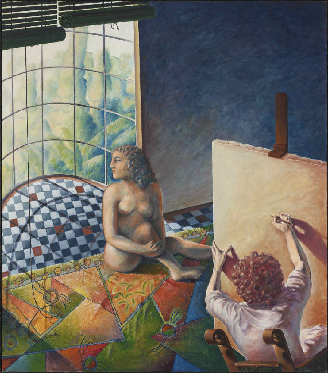 Artista en su taller o el placer de la pintura