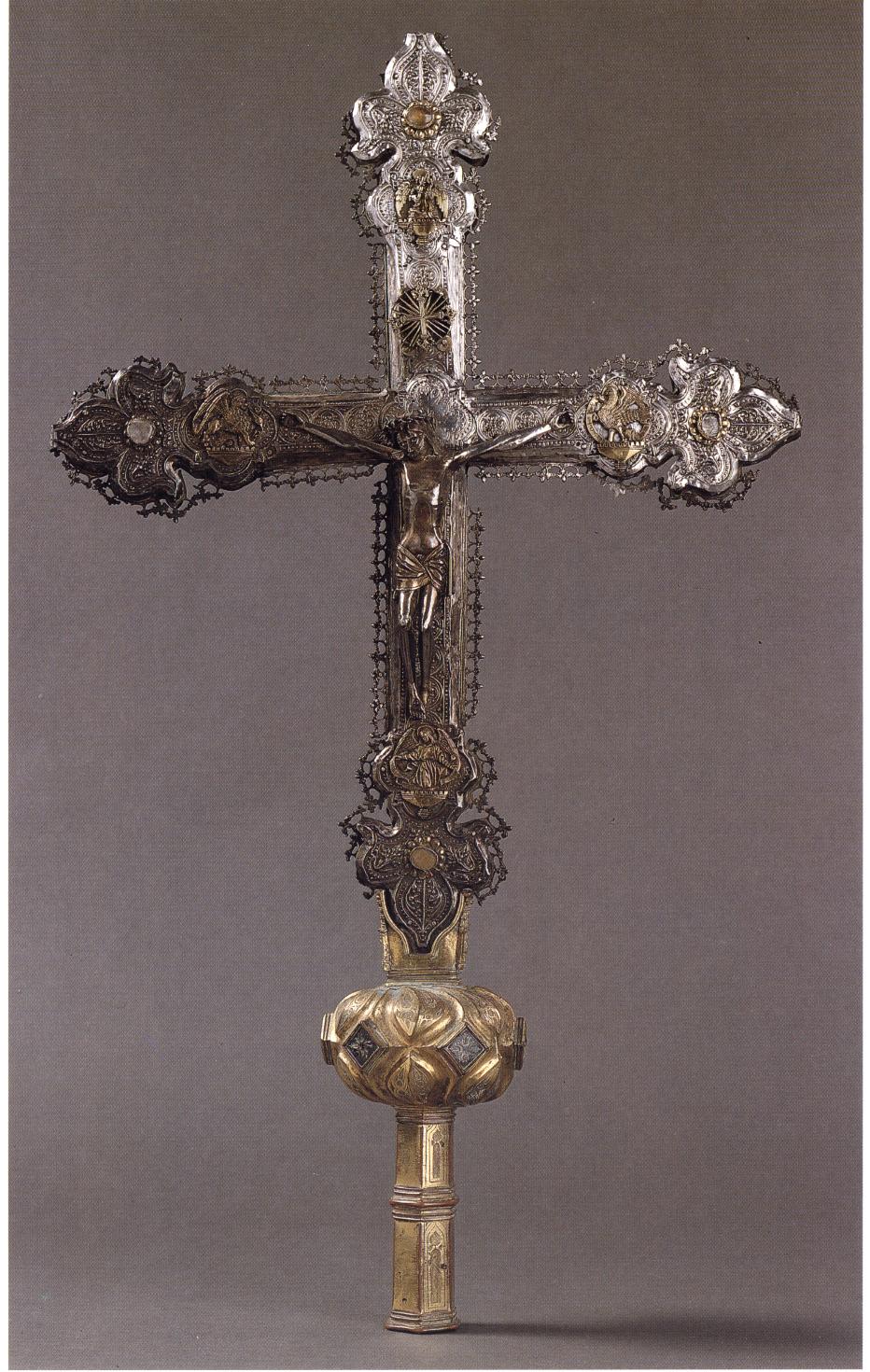 Cruz procesional de Santa María del Yermo