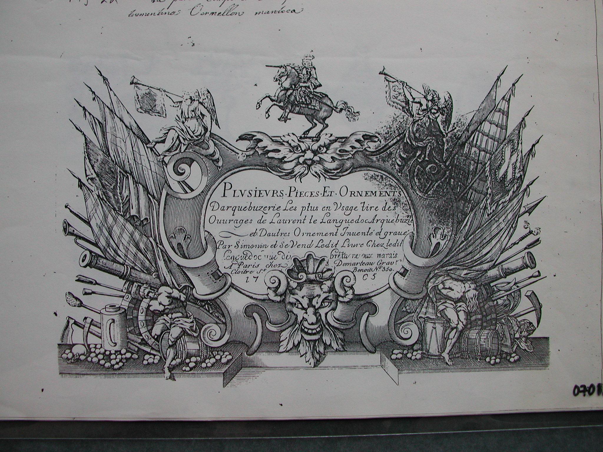 Plusieur pieces et autres (Albúm de grabados fotocopiado del original)