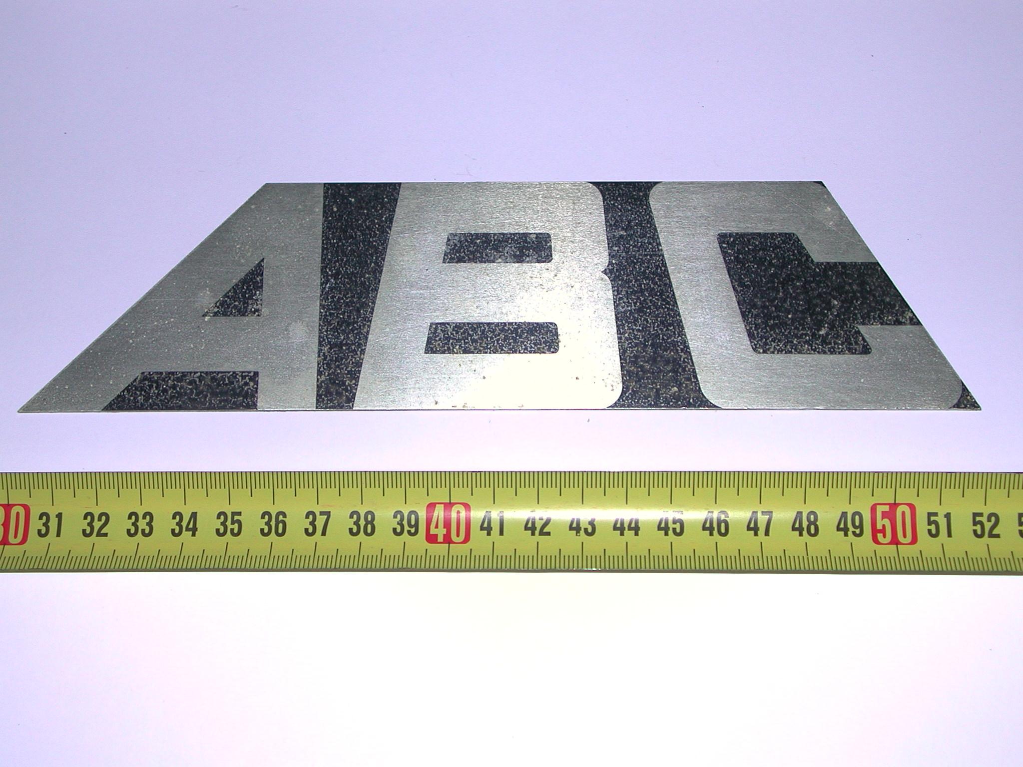 PLaca identificativa para compresores ABC