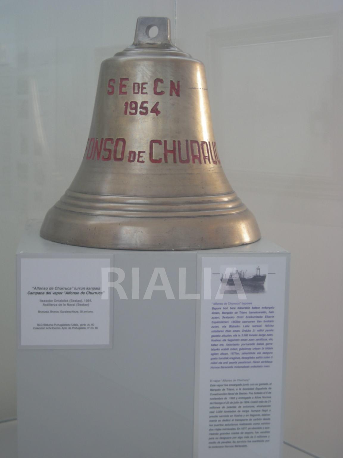 Campana del vapor Alfonso de Churruca