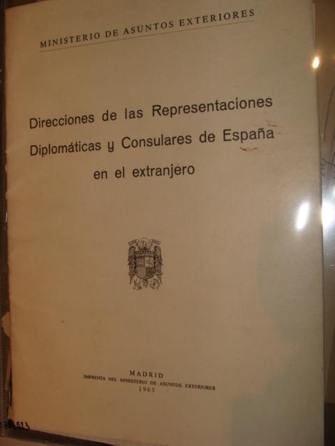 Guía de direcciones de las representaciones Diplomáticas y Consulares de España en el extranjero