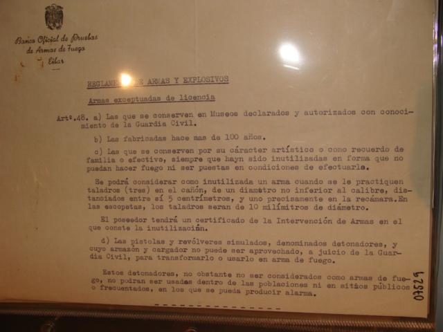 Reglamento de armas y explosivos