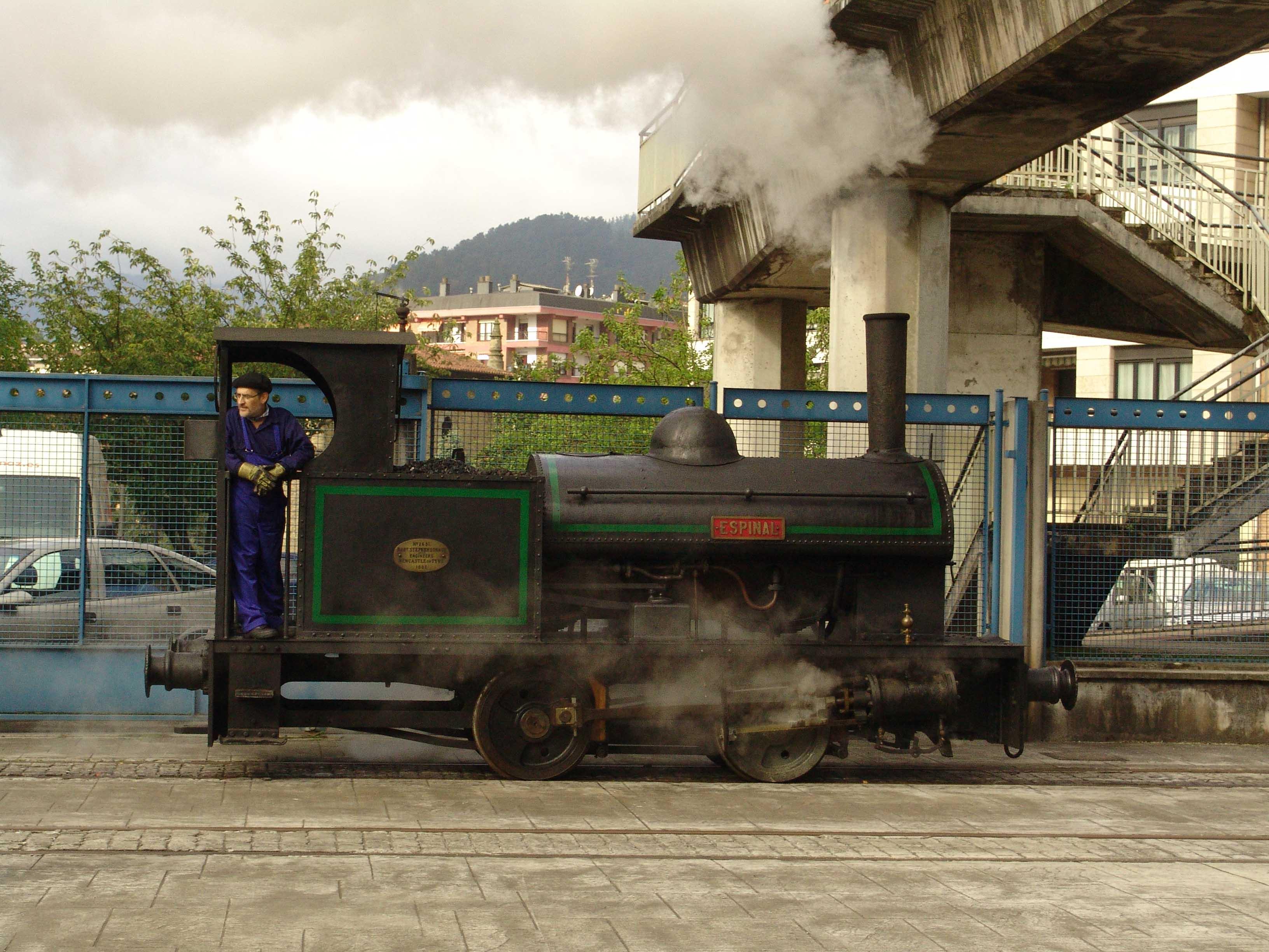 Locomotora de vapor Espinal
