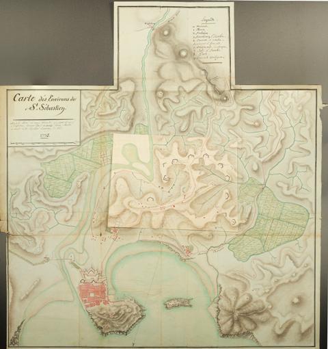 Carte dés environs de St. Sébastien