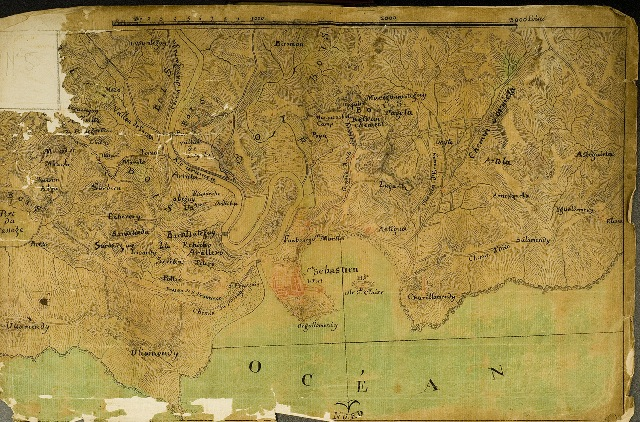 Plano de San Sebastián y sus alrededores