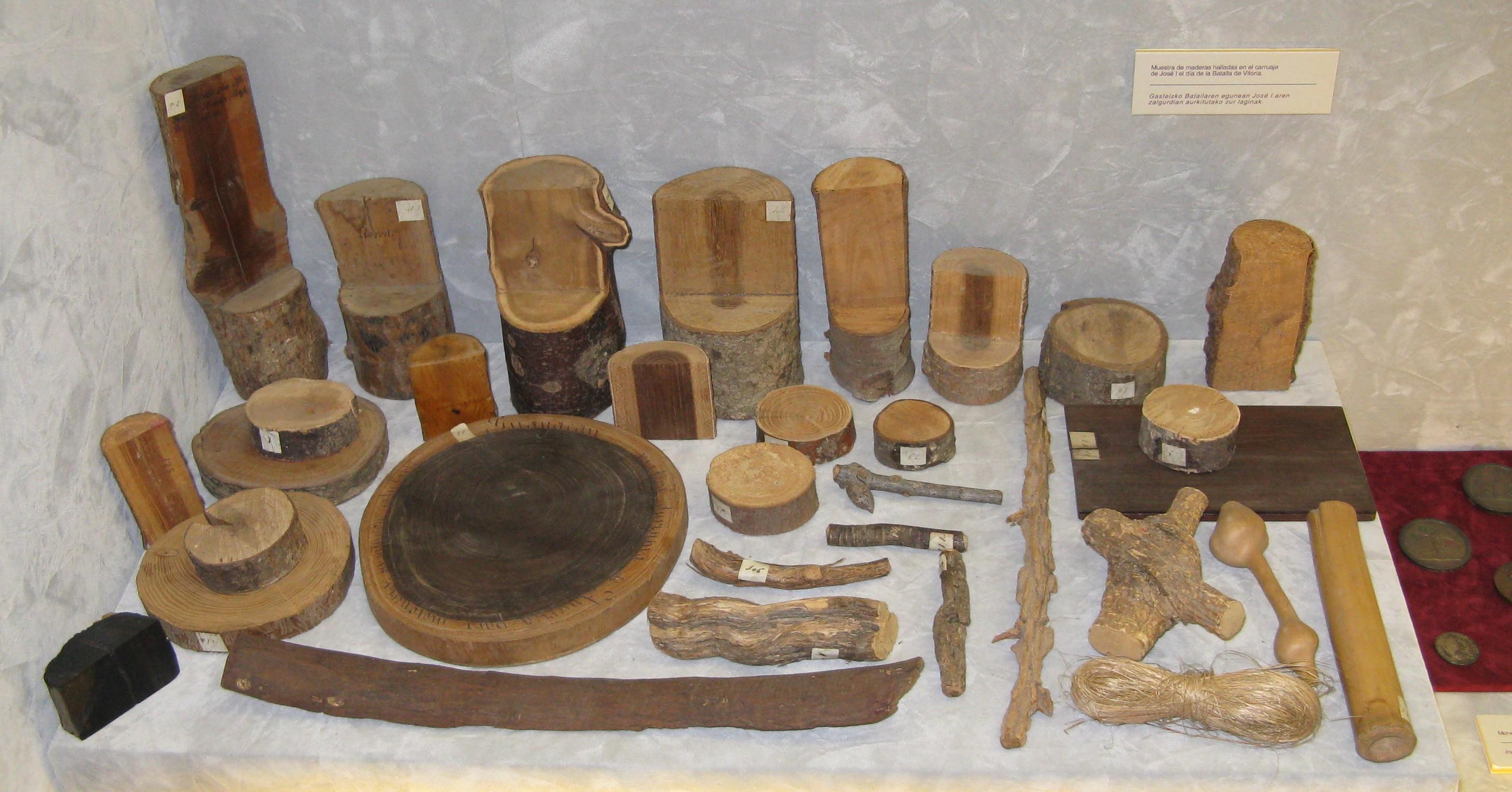 Colección de muestras maderables pertenecientes al V Marqués de Montehermoso
