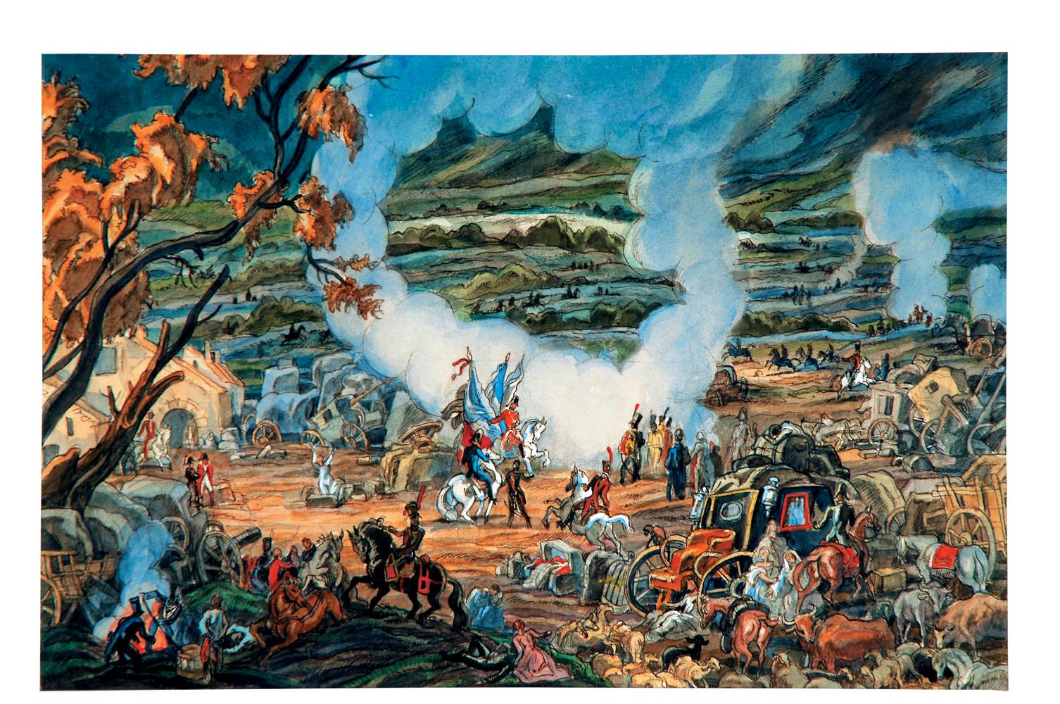 Batalla de Vitoria. Proyecto de pintura mural para el Museo de Armería de Vitoria