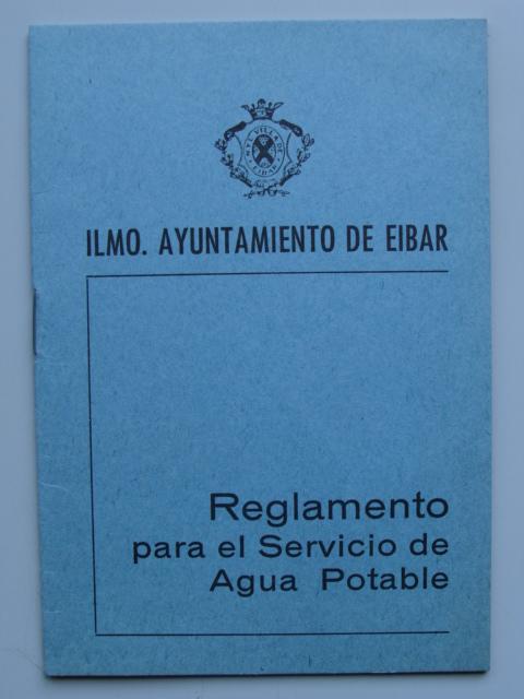 Reglamento para el servicio de agua potable de Eibar