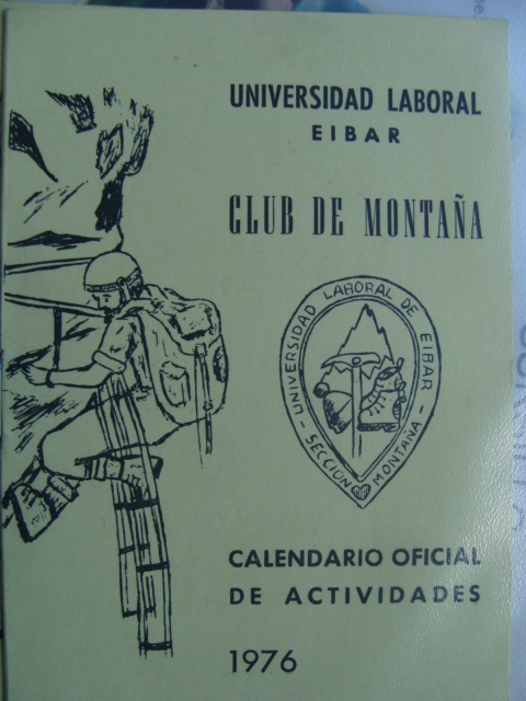 Calendario oficial de actividades del Club de montaña de la Universidad Laboral