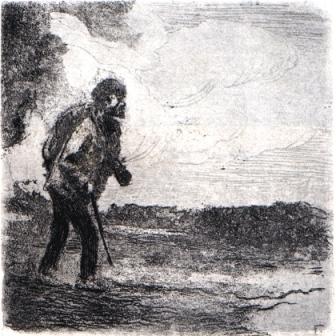 Un caminante. Vagabundo