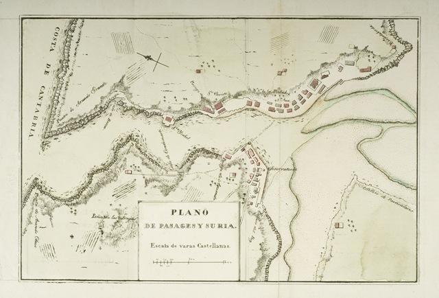 Plano de Pasages y su ría
