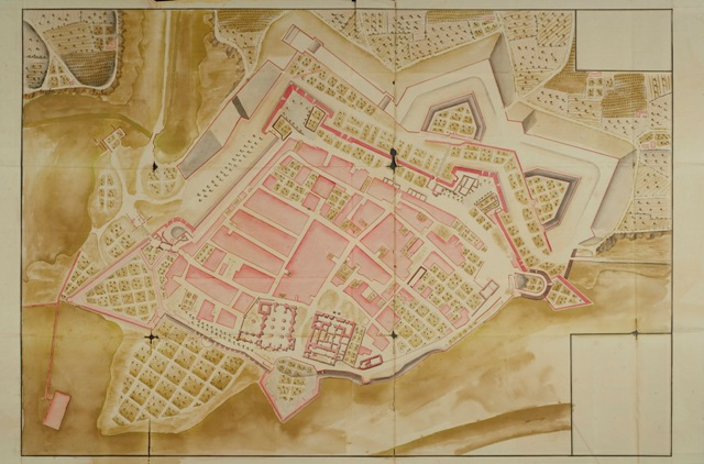 Plano de la Plaza de Fuenterrabia segun se hallara