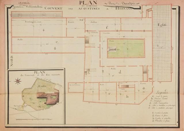Plan du ci-devant Convent des Agustines a Hernany