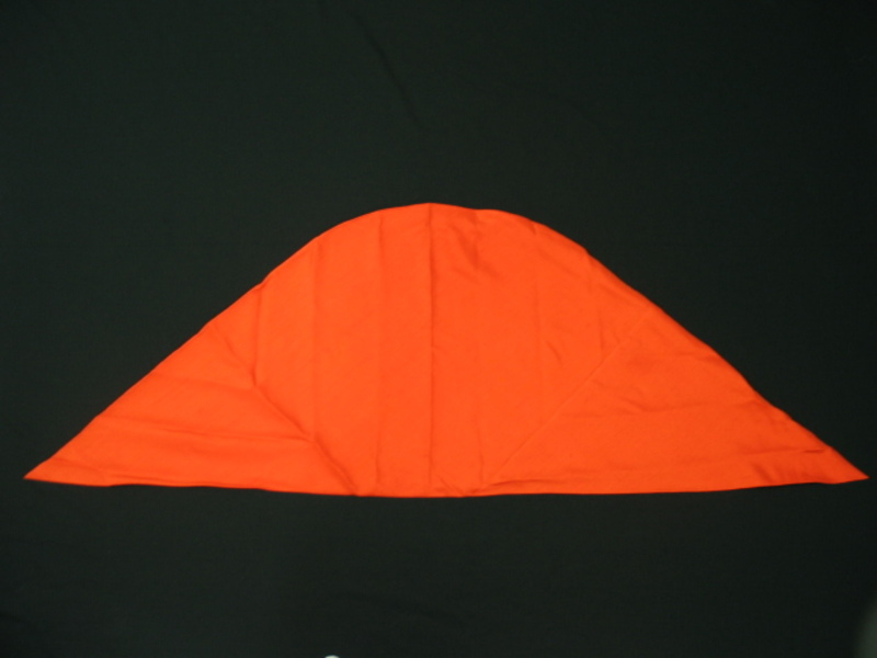 Pañuelo de tafetán color coral