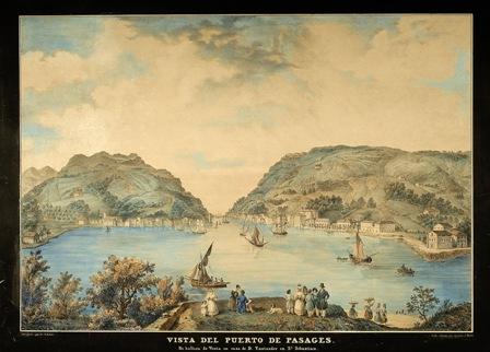 Vista del Puerto de Pasages