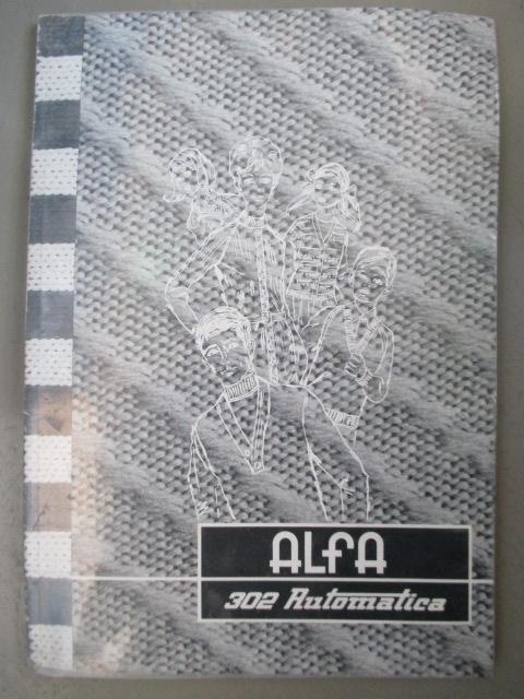 Libro de instrucciones TRICOTOSA 302 Automática