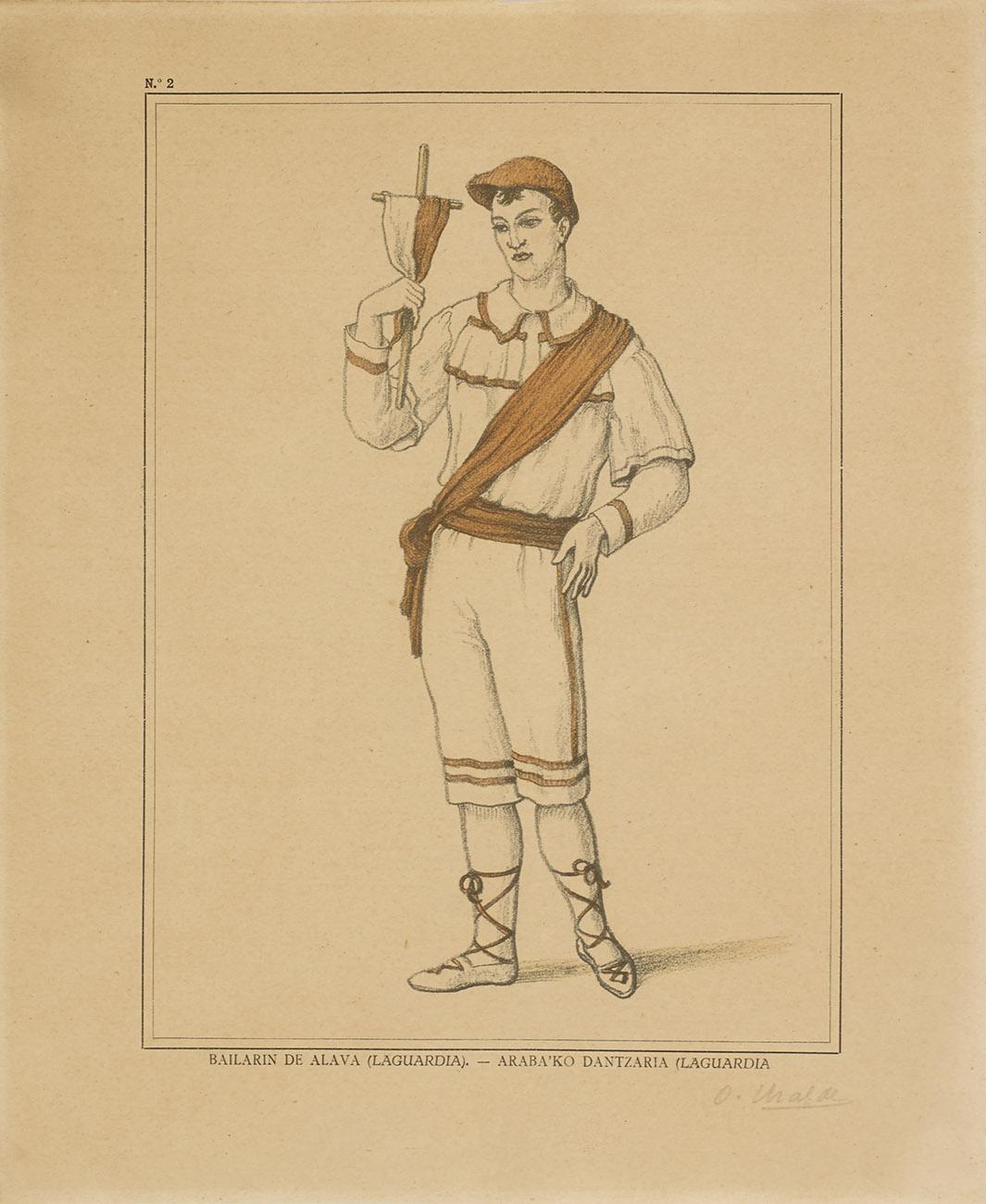 Bailarín de Álava (Laguardia) - Araba´ko dantzaria (Laguardia)
