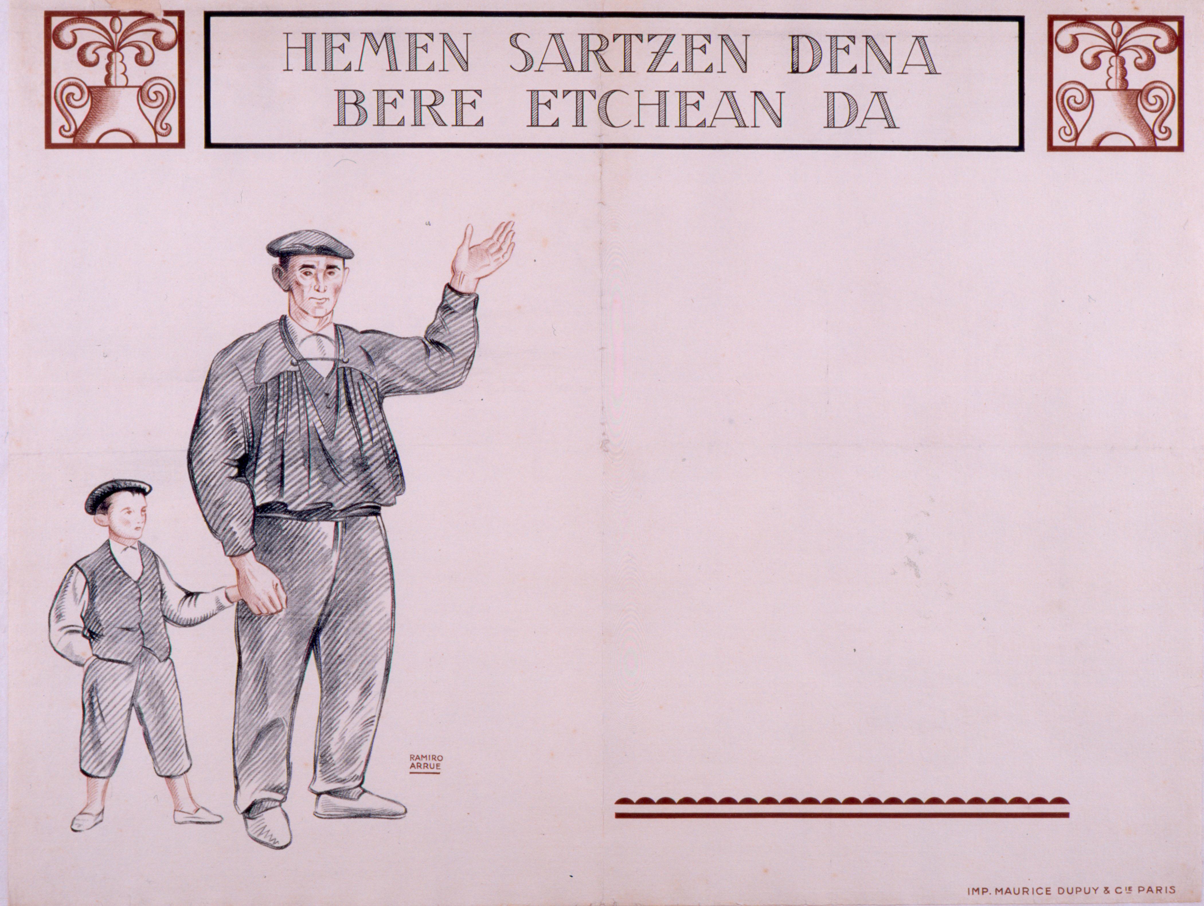 Cartel del Museo Vasco de Bayona